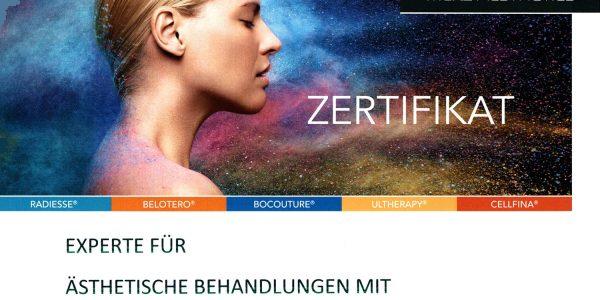 Zertifikat Merz Aesthetics 2020 (Titelbild)